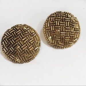 Vintage bronze Snap on Earrings